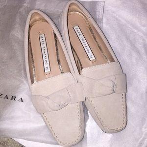 Zara split suede loafer